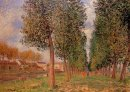 the poplar avenue at moret cloudy day morning 1888
