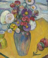 Flowers on a Yellow Table