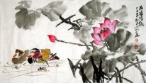Lotus-Mandarin duck - Chinese Painting
