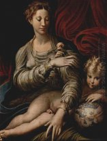Madonna Of The Rose 1530
