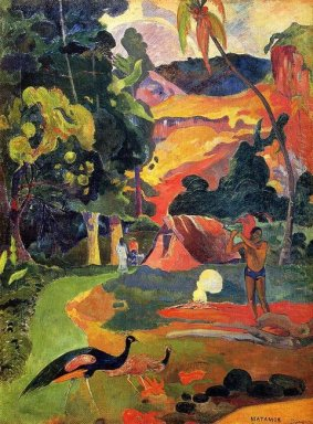landscape with peacocks 1892