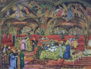 Stage Design For Mussorgsky S Opera Boris Godunov 1913