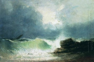Sea Coast Wave 1880