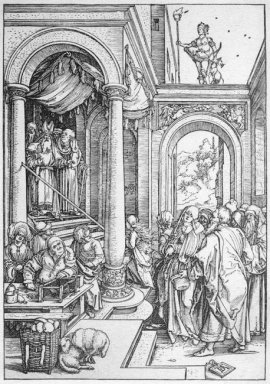 the presentation of the virgin in the temple 1505