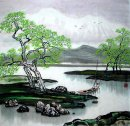 River and Trees - Chinese Painting