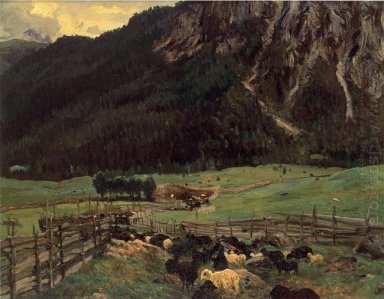 Sheepfold In The Tirol 1915