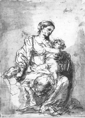 Virgin And Child 1680 1