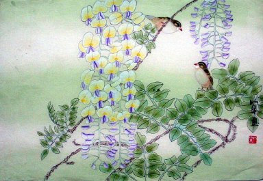 Birds-Flowe - Chinese Painting