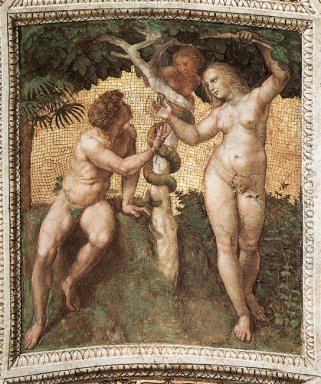 The Stanza della Segnatura Ceiling: Adam and Eve [detail: 1]