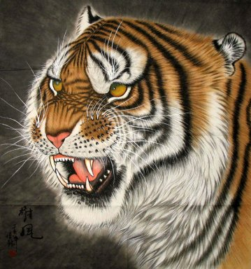 Tiger-Face - Chinese Painting