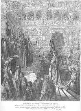 Solomon Receives The Queen Of Sheba