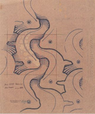 Fabric Design With Moving Waves For Backhausen 1902