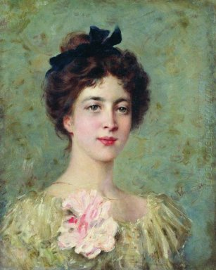Portrait Of The Young Lady With Pink Bow