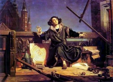 Copernicus In The Tower At Frombork 1872