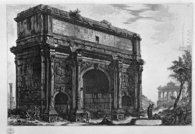 View Of The Arch Of Septimius Severus