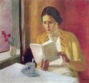 girl with book 1934