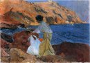Clotilde And Elena On The Rocks At Javea 1905