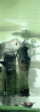 A small town - Chinese Painting