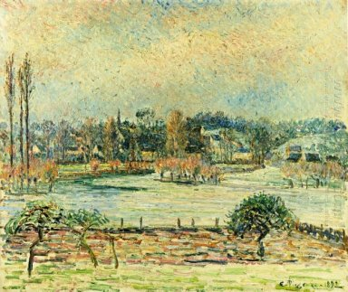 view of bazincourt flood morning effect 1892