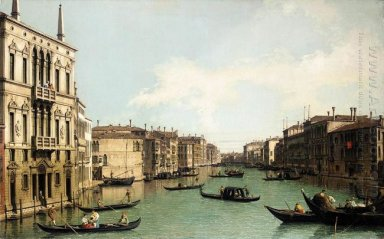 venice the grand canal looking north east from palazzo balbi to