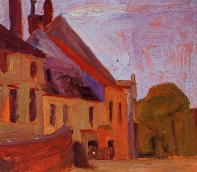houses on the town square in klosterneuberg 1908