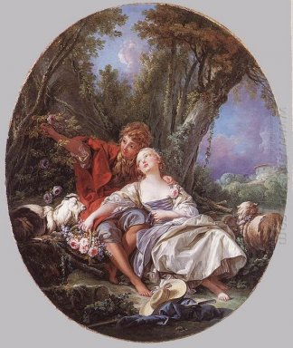 Shepherd And Shepherdess Reposing 1761