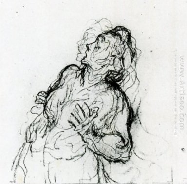Study Of A Terrified Woman
