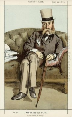 Caricature Of George Whyte Melville