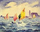 Sailboats Near Chicago 1905