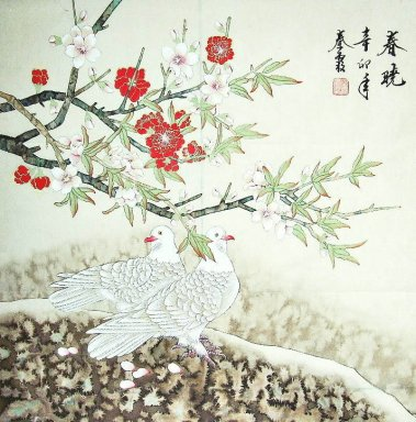 Peach&Birds - Chinese Painting