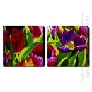 Hand-painted Oil Painting Floral - Set of 2