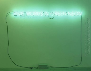 Five Words In Green Neon