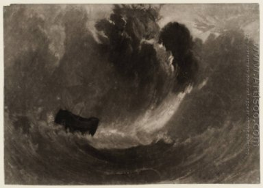 Ship in a Storm, from the Little Liber, engraved by the artist,