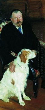 Portrait Of Dr S Y Lyubimov With Dog 1905