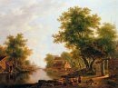 Landscape with river near Dordrecht