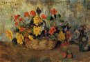 nasturtiums dahlias in a basket 1884