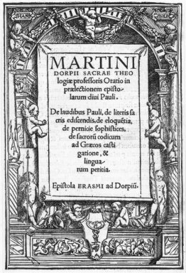 Title Page In The Form Of A Renaissance Niche 1516