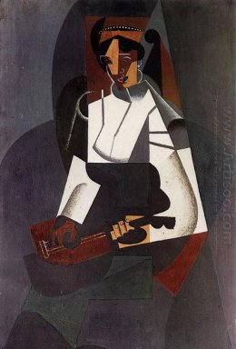 Woman With A Mandolin After Corot 1916