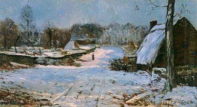 Cottages In The Snow 1891 1