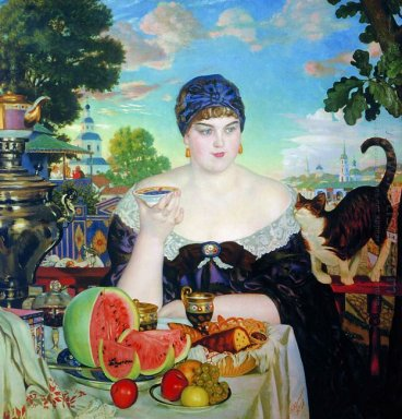 The Merchant S Wife At Tea 1918