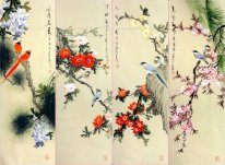 Birds&Flowers-FourInOne - Chinese Painting