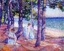 Female Bathers Under The Pines At Cavaliere 1905