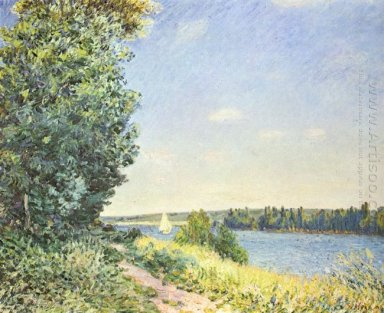 normandy the water path in the evening at sahurs 1894