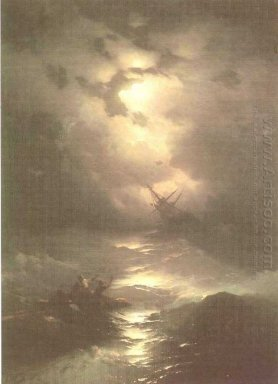 Tempest On The Northern Sea 1865
