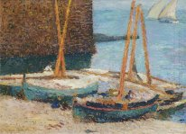 Boats in the Port of Collioure