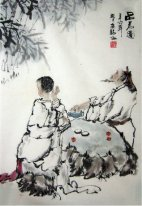 Drinking tea - Chinese Painting