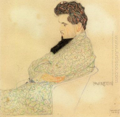 portrait of the composer arthur lowenstein 1909