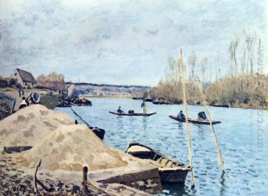 the seine at port marly sand piles 1875