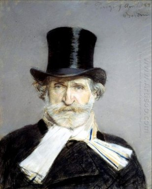 Portrait Of Guiseppe Verdi 1813 1901