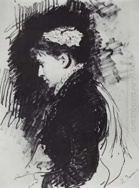 Portrait Of E D Batasheva 1891